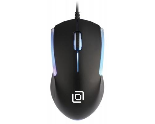 Мышь Oklick 245M оптическая 1000dpi 3 кнопки RGB подсветка USB черный