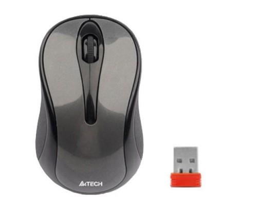 Мышь A4 G3-280A V-Track, беспроводная, оптическая, 1000dpi, 2кн+скр., матовая, USB, черный