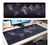 Коврик для мыши Карта мира, тканевый, антистатичный, с резиновым основанием, с рисунком, 900x400х2мм