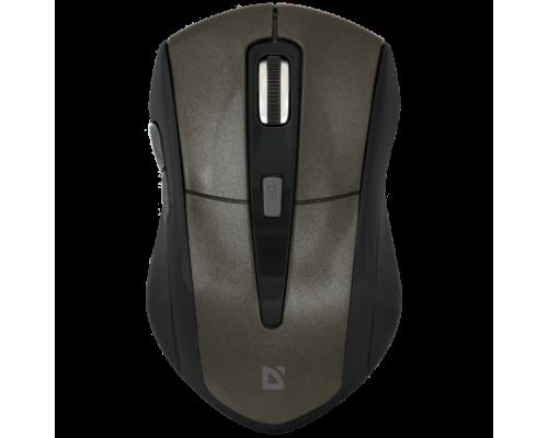 Мышь Defender Accura MM-965 беспроводная оптическая 1600dpi 6 кнопок USB коричневый (52968)