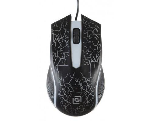 Мышь Oklick 395M Shadow игровая оптическая 1500dpi 2 кнопки RGB подсветка USB черный