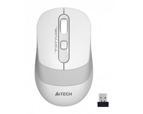 Мышь A4 FSTyler FG10 USB беспр опт мышь, 2,4ГГц, 2000dpi, 4кн.+скр., белый