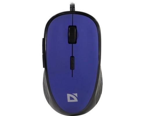 Мышь Defender Accura MM-520 оптическая 1600dpi 4кн 1клкн бесшумный клик USB синий-черный (52520)