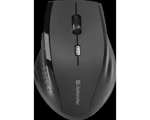 Мышь Defender Accura MM-365 беспроводная оптическая 1600dpi 6 кнопок USB красный (52367)