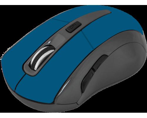 Мышь Defender Accura MM-965 беспроводная оптическая 1600dpi 6 кнопок USB синий (52967)