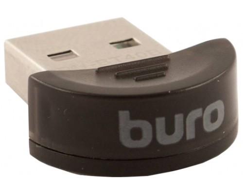 Адаптер Bluetooth Buro BU-BT40B, Bluetooth 4.0+EDR class 1.5 20м USB черный