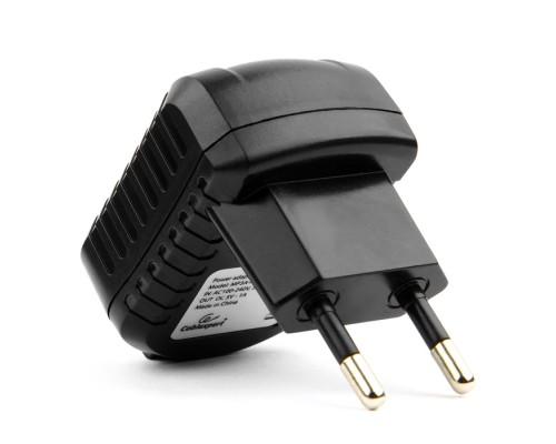 Адаптер питания 220В -> 5B, 1000mA Cablexpert MP3A-PC-08 черный (USB A)