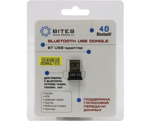 Адаптер Bluetooth 5Bites BTA-40, черный, мини, 4.0, до 50м, USB