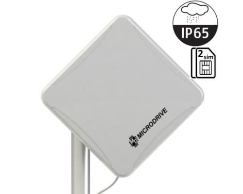 Маршрутизатор Wi-Fi  Microdrive NR-412 802.11n, до150Мбит/с, 3G/4G, 1 порт LAN, PoE, 2 SIM карты, уличный