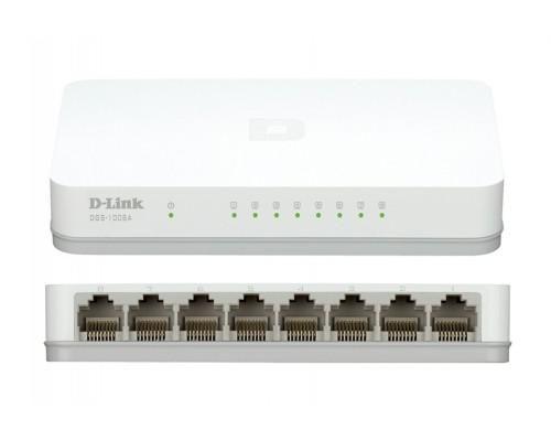Коммутатор D-Link DGS-1008A/E1A 8 портов 1Гбит/сек.