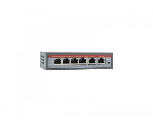 Коммутатор EL S-6/4PA PoE IEEE802.3af - 220V