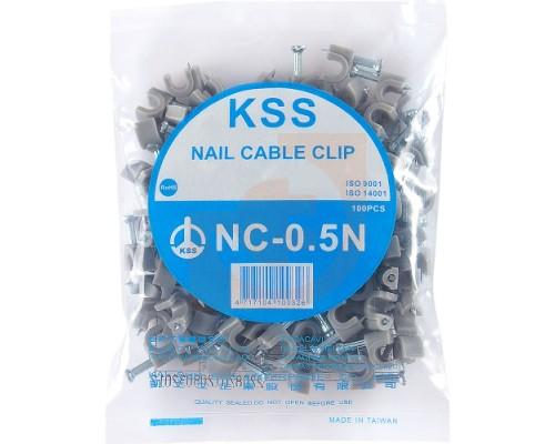 Скоба для крепления кабеля UTP, 5х7.6 мм KSS NC-0.5N (100шт.)