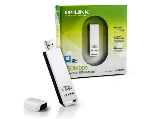 Адаптер Wi-Fi 802.11n TP-Link TL-WN727N 150Мбит/с, USB