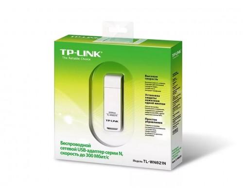 Адаптер Wi-Fi 802.11n TP-Link TL-WN821N 300Мбит/с, USB