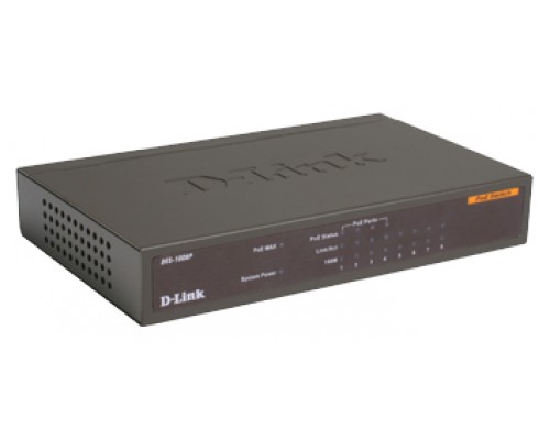 Коммутатор D-Link DES-1008P/E 8x100Mбит/с 4xPOE