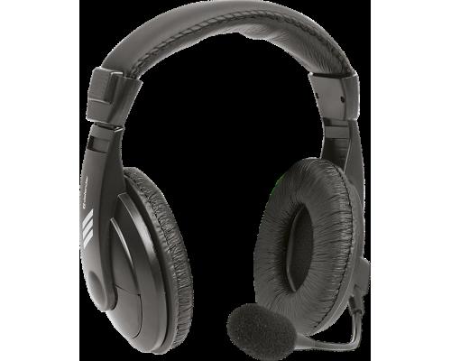 Гарнитура Defender HN-750 Gryphon с рег. громкости , 2м, черный (63750)