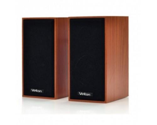 Актив. акуст. система Velton VLT-SP109ULW, 2x3вт, питание от USB, МДФ, светлое дерево