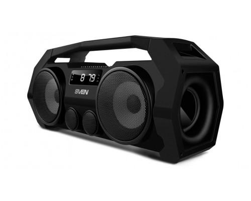 Актив. акуст. система Sven PS-465, сателлиты 2x9Вт, портативная, с MP3 плеером, с FM радио, USB, microSD, черный (Bluetooth)
