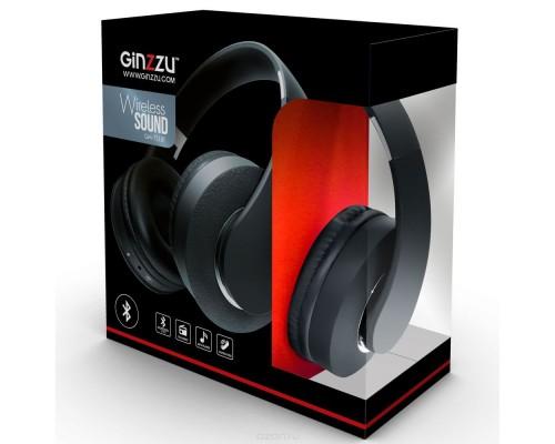 Гарнитура Ginzzu GM-751BT, беспроводная Bluetooth 4.2, с регулятором громкости, MP3, FM, накладные, время работы до 6 часов, черный