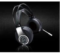 Гарнитура Zalman  ZM-HPS500, с рег. громкости, оголовье, длина кабеля 2,3м, стерео, черный