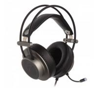 Гарнитура Zalman  ZM-HPS600, с рег. громкости, оголовье, длина кабеля 2,3м, стерео, серебристый