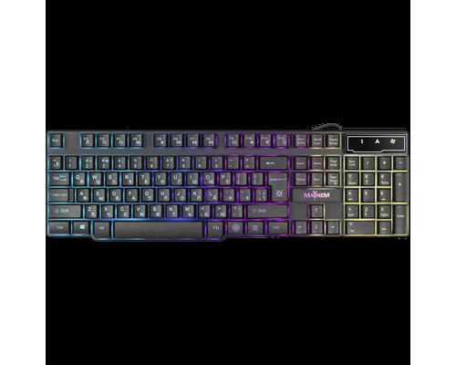 Клавиатура Defender Mayhem GK-360DL, RGB подсветка, USB, черный (45360)