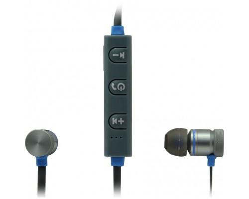 Гарнитура Defender OutFit B710 Black/Blue, беспроводная Bluetooth 4.1, с регулятором громкости, вставные (63711)