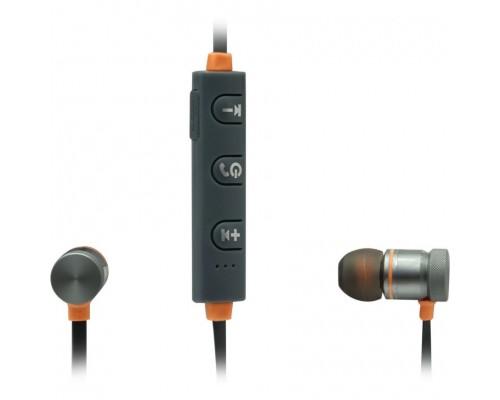 Гарнитура Defender OutFit B710 Black/Orange, беспроводная Bluetooth 4.1, с регулятором громкости, вставные (63712)