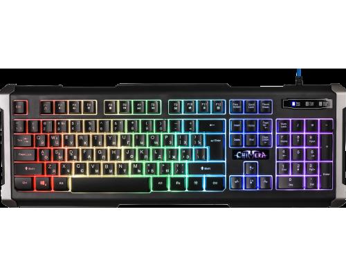 Клавиатура Defender Chimera GK-280DL игровая влагозащищенная, RGB подсветка символов и клавиш, черный 45280