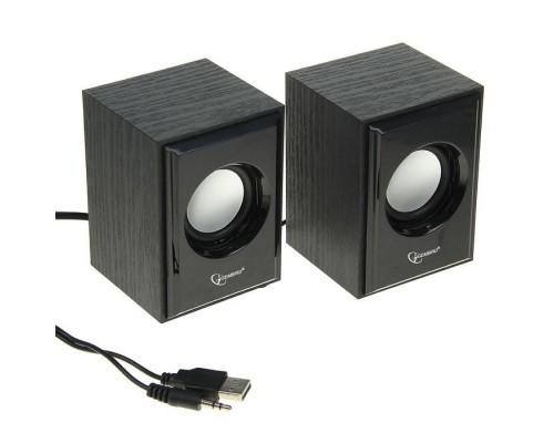 Актив. акуст. система Gembird SPK-205, 2х3Вт, питание USB, черный