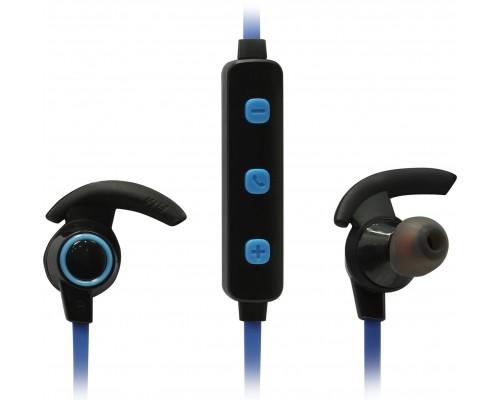 Гарнитура Defender OutFit B725 Black/Blue, беспроводная Bluetooth 4.1, с регулятором громкости, вставные c С-образными фиксаторами (63725)