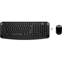 Клавиатура+мышь HP 300 (3ml04aa), 2.4GHz, беспров. оптич. мышь 2кн+скр. 1600dpi, USB, черный