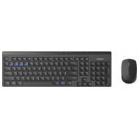 Клавиатура+мышь Rapoo 8100M, беспроводная ультратонкая, Bluetooth 3.0/4.0 2,4GHz, интеллектуальное переключение между 3 (мышь) или 4 (клавиатура) устройствами, черный