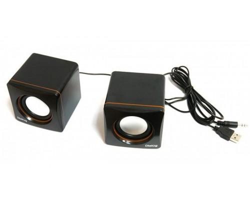 Актив. акуст. система Dialog Colibri AC-04UP, 2х3Вт, USB-питание, черные