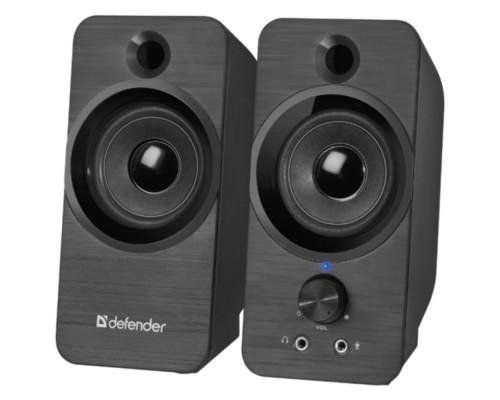 Актив. акуст. система 2.0 Defender SPK-190 2х4Вт USB-питание разъем для наушников и микрофона черный (65190)