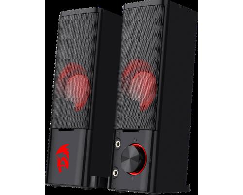 Актив. акуст. система 2.0 Redragon ORPHEUS 77601, 2х3Вт, USB-питание, светодиодная подсветка, черные