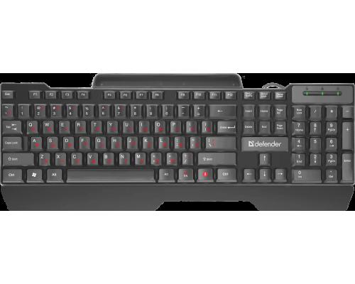 Клавиатура Defender Search HB-790 RU полноразмерная мембранная 104кн черный (45790)