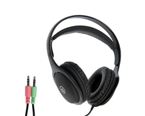 Гарнитура Defender Tune 125 полноразмерная, с рег. громкости, микрофон на проводе, 2м, черный