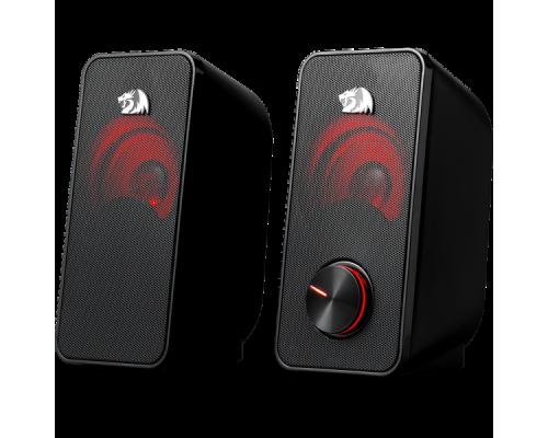 Актив. акуст. система 2.0 Redragon Stentor 77600, 2х3Вт, USB-питание, светодиодная подсветка, черные