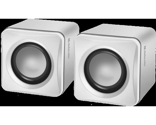 Актив. акуст. система 2.0 Defender SPK 33 2х2,5 Вт USB-питание длина кабеля 0,9м белый (65631)