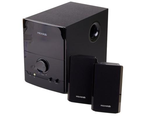 Актив. акуст. система 2.1 Microlab M-500 сабвуфер 16Вт, сателлиты 2x12Вт, дерев. корпус SW, черный