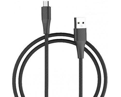Кабель USB AM-microB 5Pin Hoco X32, 2 A, 1м, черный