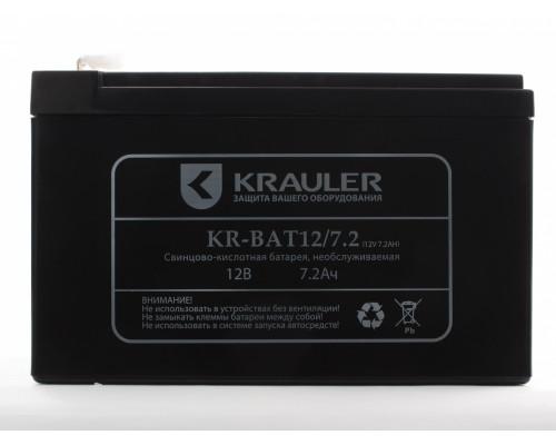 Аккумуляторная батарея для ИБП Krauler KR-BAT-12/7.2 12V, 7,2A·h