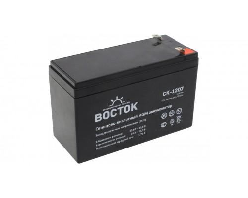 Аккумуляторная батарея для ИБП ВОСТОК CK 1207 12V, 7,2A·h