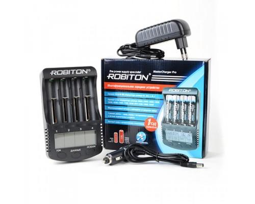 Зарядное устройство Robiton MasterCharger Pro, 4xAA/AAA/10440/14500/16340/17355/17500/17670/18490/18500/18650/22650/26650 Ni-MH/Ni-Cd/Li-Ion, микропроцессорный контроль по 4 независимым каналам