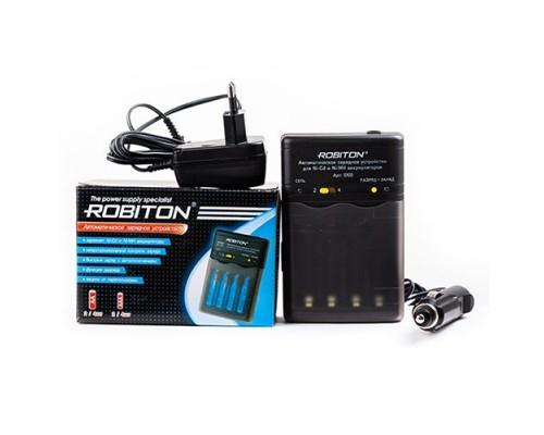 Зарядное устройство Robiton Smart S100, 4xAA/AAA Ni-MH/Ni-Cd, микропроцессорный контроль, быстрый заряд с автоотключением