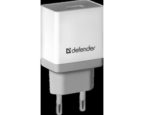Адаптер питания 220V -> 5V 1000mA Defender UPA-11 1xUSB A белый (83548)