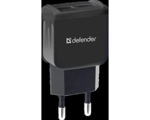 Адаптер питания 220V -> 5V 2100mA Defender UPA-22 83579 2xUSB A черный