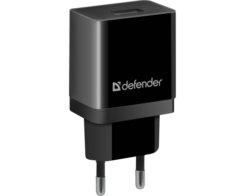 Адаптер питания 220V -> 5V 2100mA Defender UPC-11 1xUSB 2,1A, в комплекте кабель microUSB, черный (83556)
