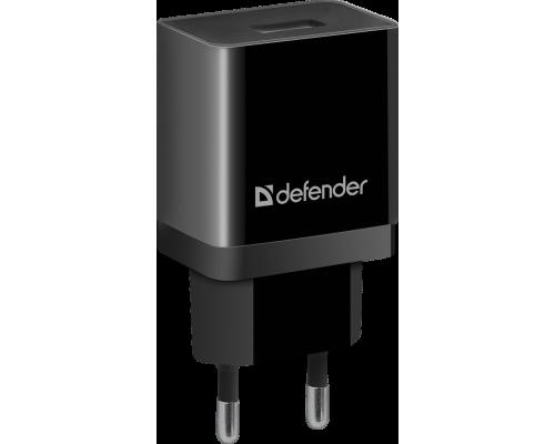 Адаптер питания 220V -> 5V 2100mA Defender UPC-13 1xUSB 2,1A, в комплекте кабель Type-C, черный (83559)